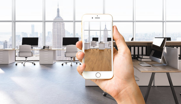 Wonder How Your Office Will Look With New Wallpaper This Ar App