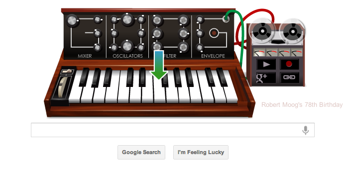 Google screen shot of Moog Tribute